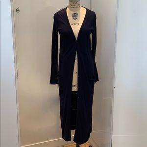 Zara knit Sz small navy long cardigan two pocket